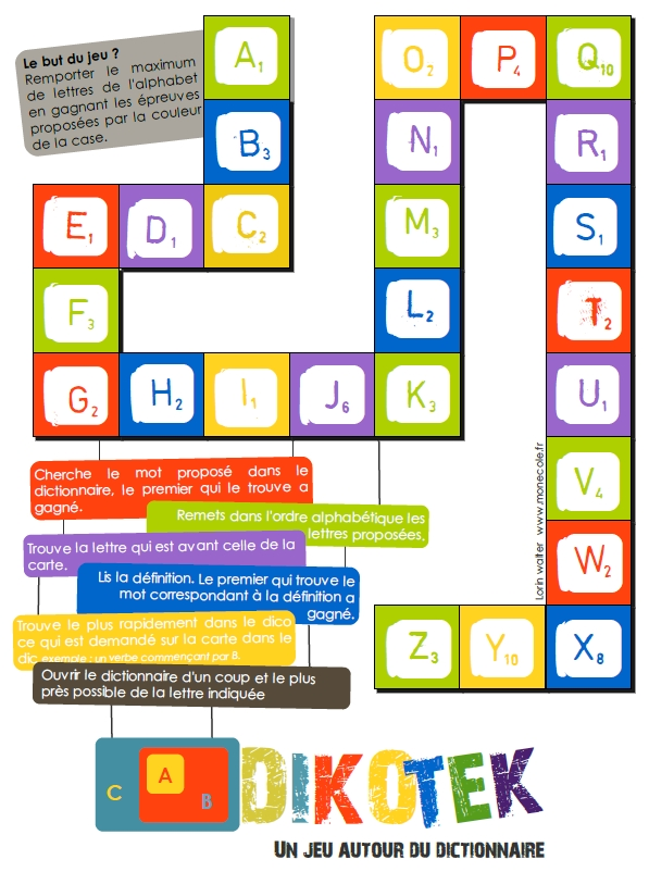 Favori Jeu pour la classe] DIKOTEK – jeu avec le dictionnaire cycle 3  BS66