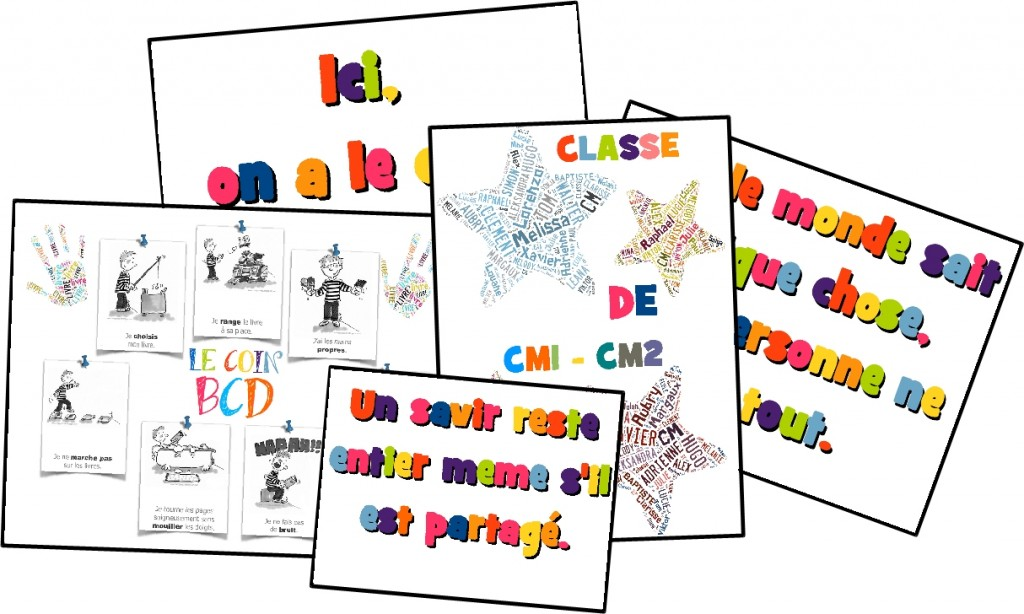 affiches de classe ma classe mon 233 cole cycle 3 ce2 cm1 cm2 orphys
