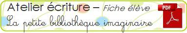 logo atelier ecriture - petite bibliotheque imaginaire