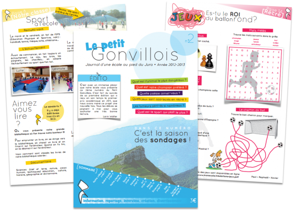 Cr er un journal scolaire ma classe mon cole cycle 3 ce2 cm1 cm2 orphys - Comment faire un magazine ...