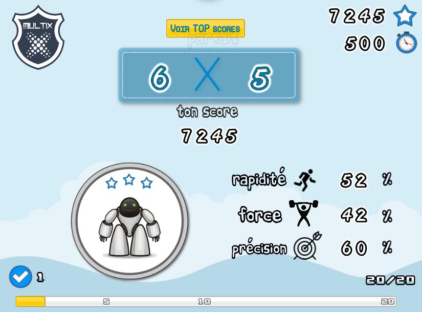 Jeu en ligne multix ressources num - Table de multiplication course de chevaux ...