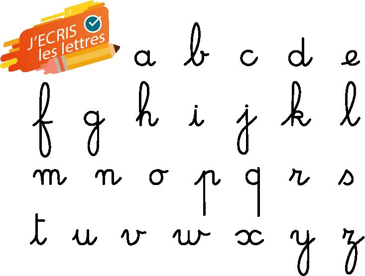 Lettres Majuscules Minuscules Cursive Tracé Et Affiche Mon école